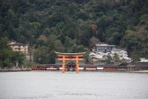 Torii gate from ferry