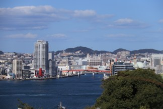 Nagasaki harbour viewed from Glover garden