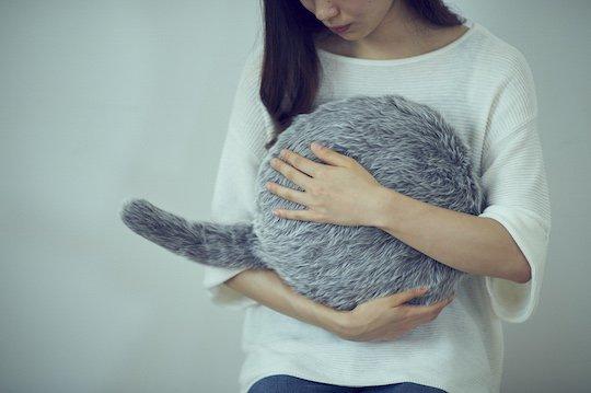 qoobo tailed cushion robot japan healing pet cat