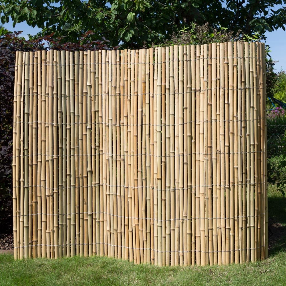 Sichtschutz Bambus Zune Bambuszune Bambus