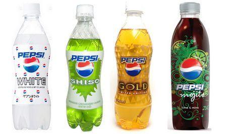 Pepsi de sabores exóticos no Japão