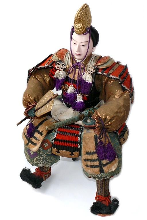 Japanese Traditional Samurai Doll Of Taisho Period