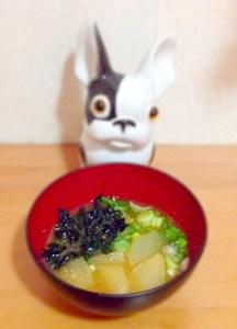 soupe miso  aux navets