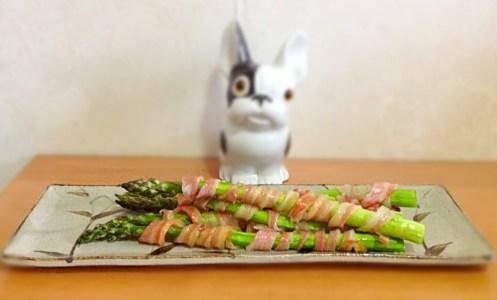 Maki d'asperge au bacon