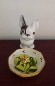 Salade de concombre façon tsukemono