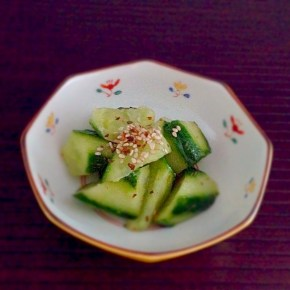Salade de concombre façon tsukemono きゅうりの漬物風サラダ