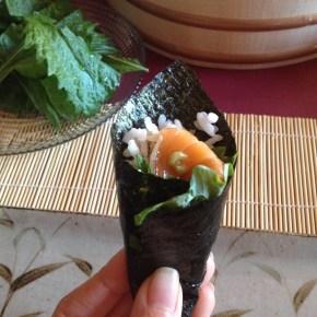 Temaki Sushi 手巻き寿司