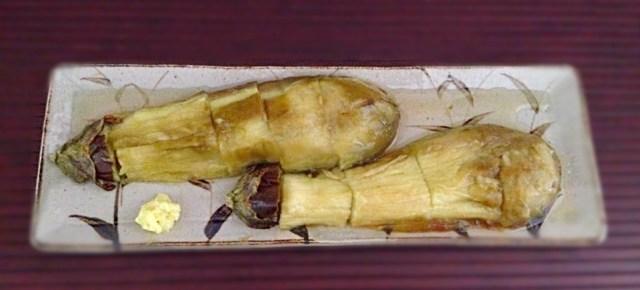 Aubergines d'été grillées 焼き茄子