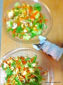 Salade de mizuna