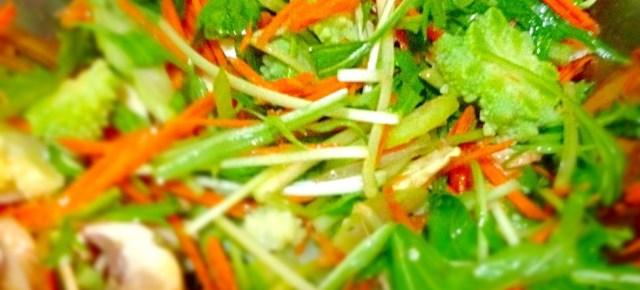 salade de mizuna 水菜のサラダ