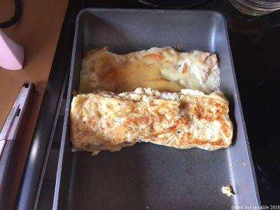 omelette au nimono de radis blancs séché