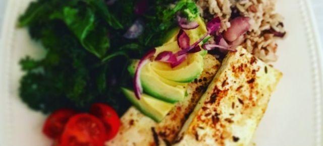 Salade au tofu sauté 豆腐ソテー入りサラダ