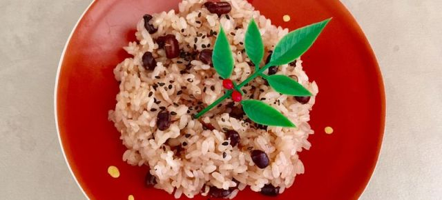 Riz gluant aux haricots rouges Osekihan お赤飯