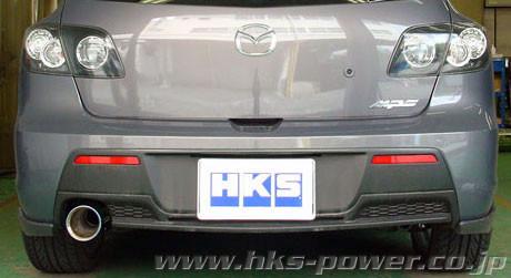 hks legamax premium abgasanlage fur mazda 3 mps 06 08