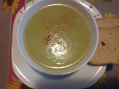 حساء القرعة الخضراء