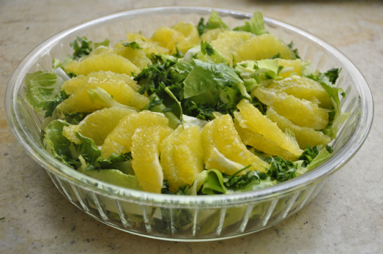 سلطة الخس و الليمون