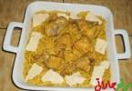 معكرونة بالدجاج