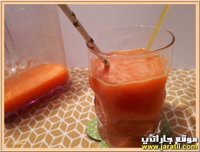 عصير الجزر والبرتقال بالصور