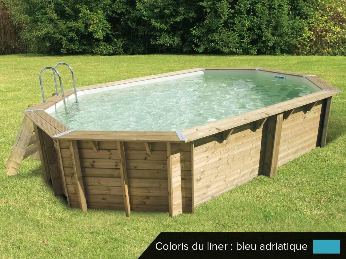 piscine bois ocea 6 10 x 4 00 x 1 30 m
