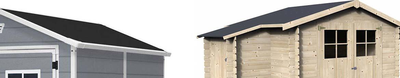 le toit de mon abri de jardin