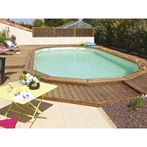 piscine bois enterree maeva 6x3m
