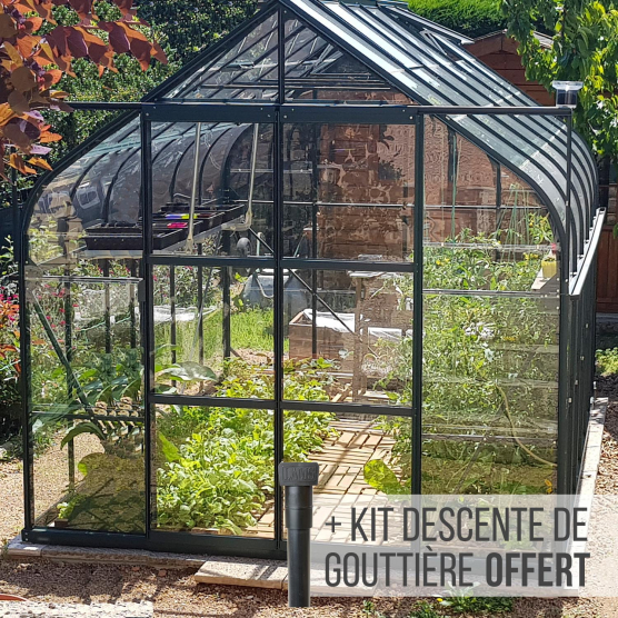 serre de jardin en verre 9m toit verre et plexiglass