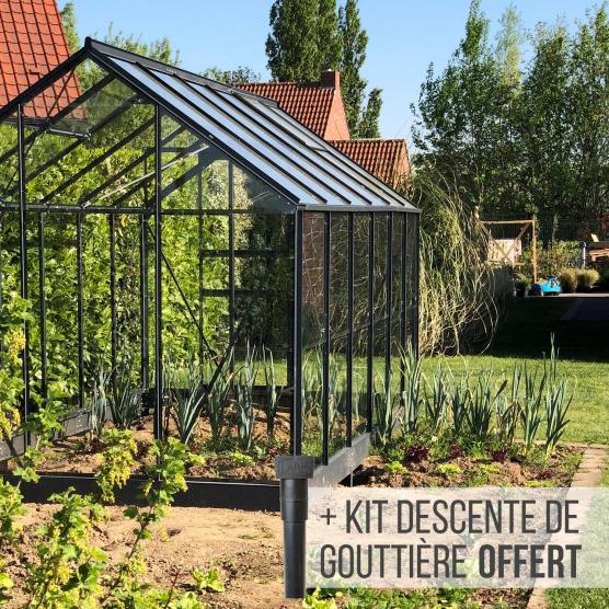 serre de jardin en verre 7 4 m allium 7500 lams