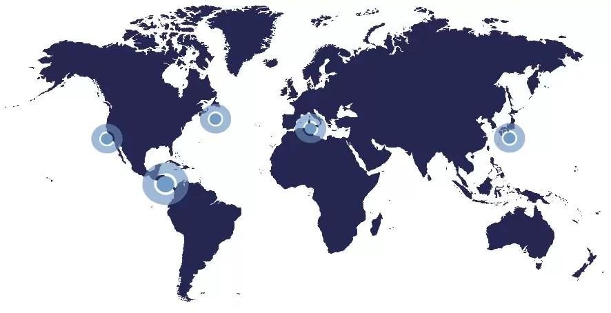 Mapa Blue Zones