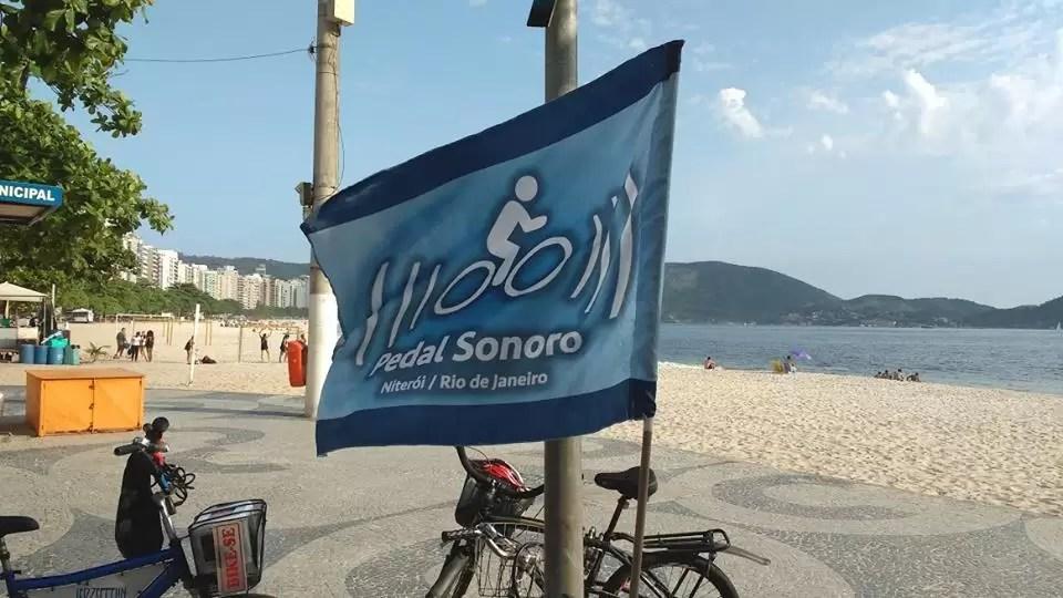 A famosa bandeira do Pedal Sonoro
