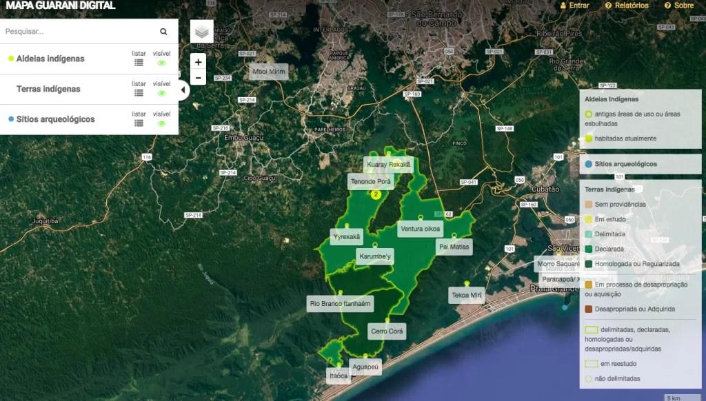 Mapa de aldeia indígena