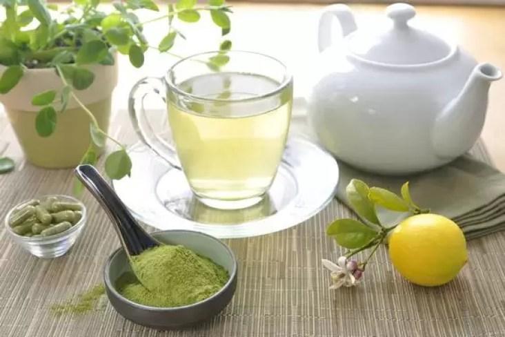 chá gelado de moringa