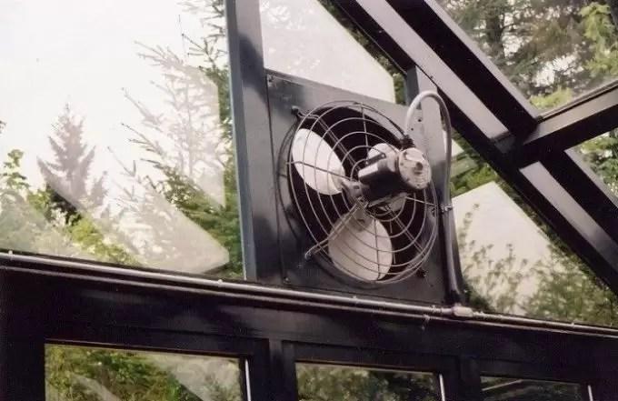 ventilação da estufa