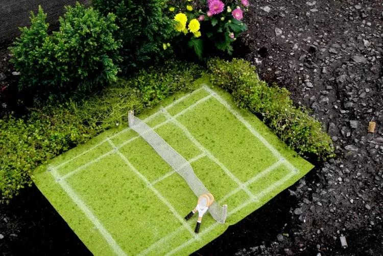 jardins em buracos