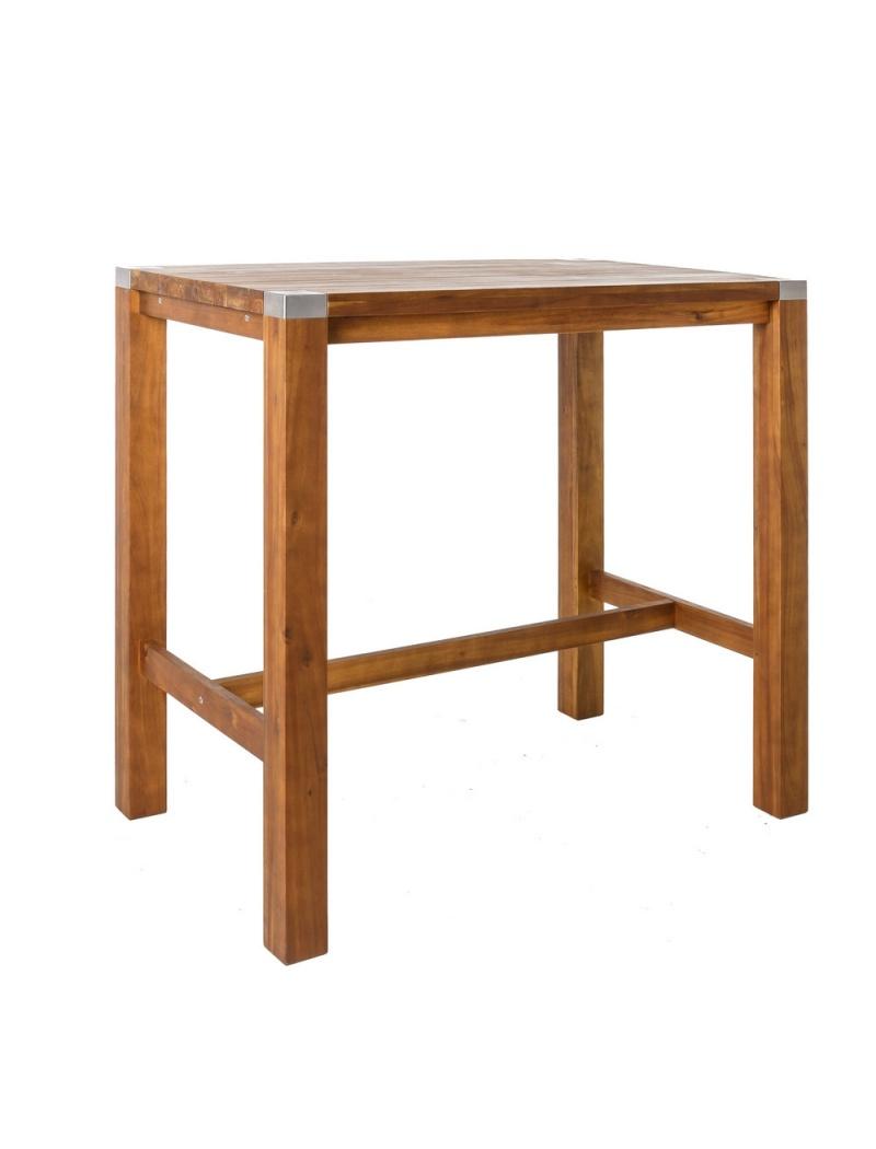 table haute norah en bois