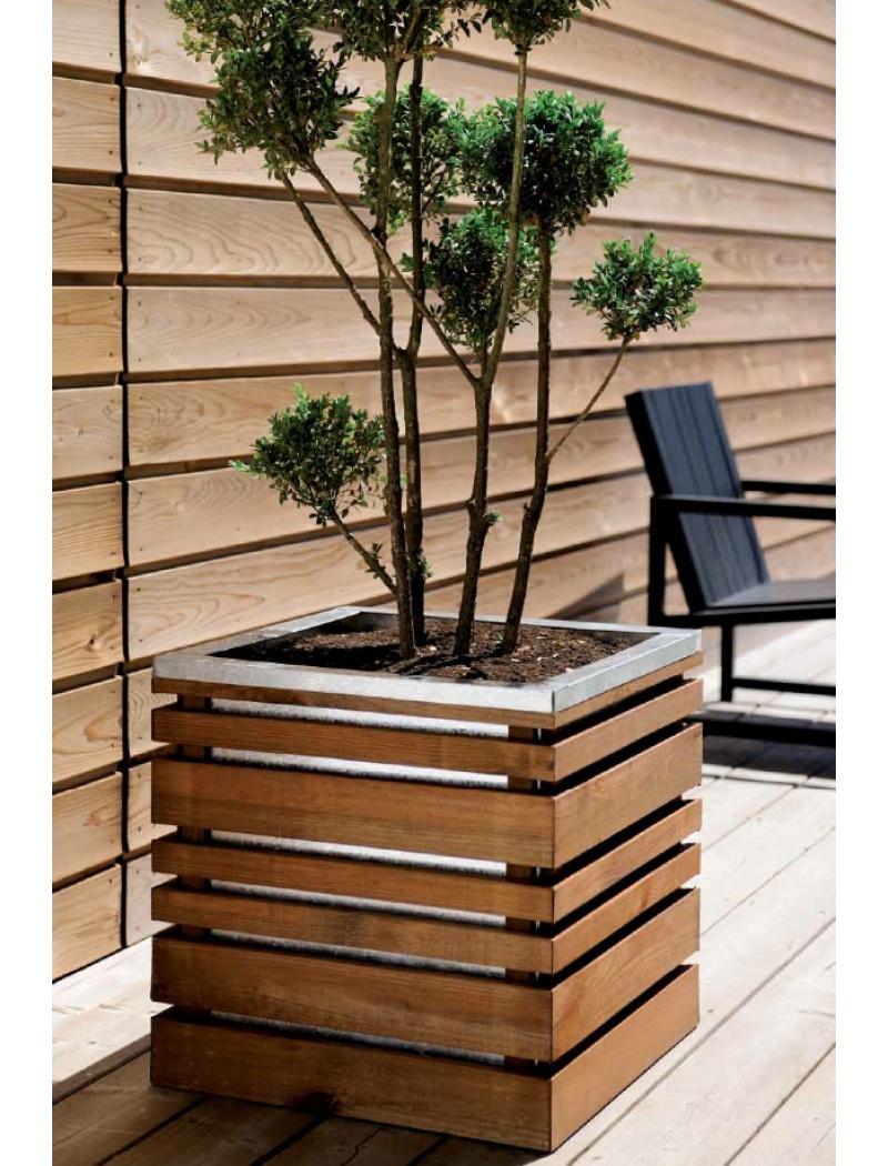 jardiniere en bois lign z 60 cm