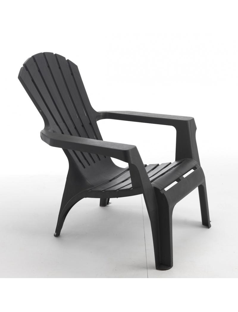 fauteuil adirondack anthracite