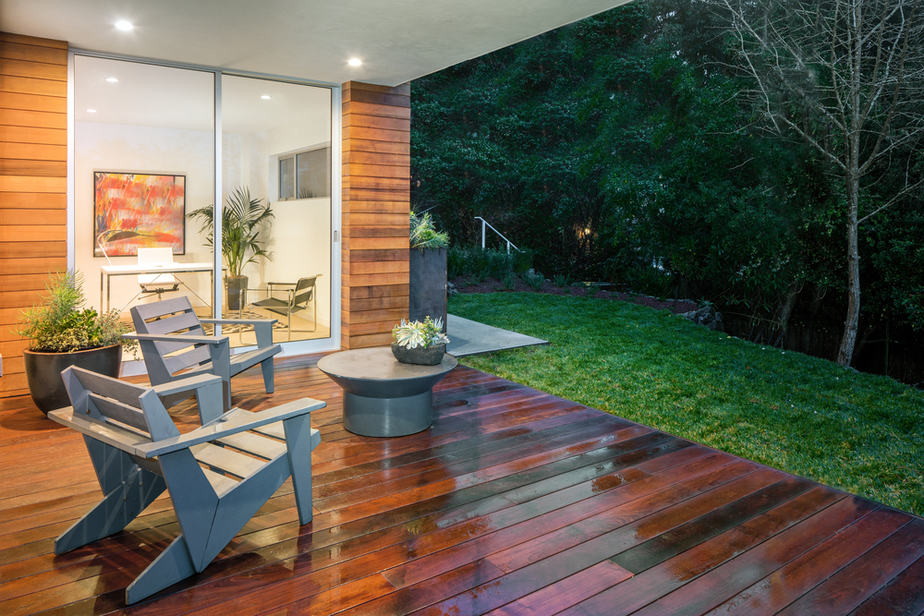 amenagement terrasse moderne jardin