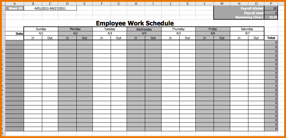 Choose the best schedule template for your team! Scheduling Calendar Templates Bicim