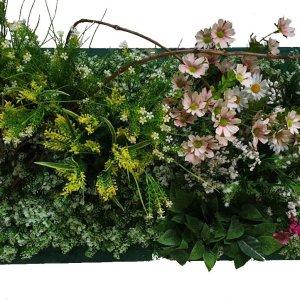 jardin vertical artificial con marco