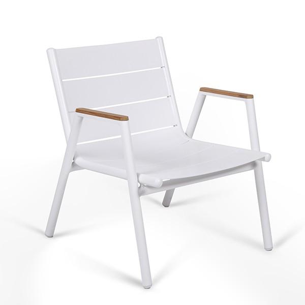 fauteuil bas pilotis aluminium