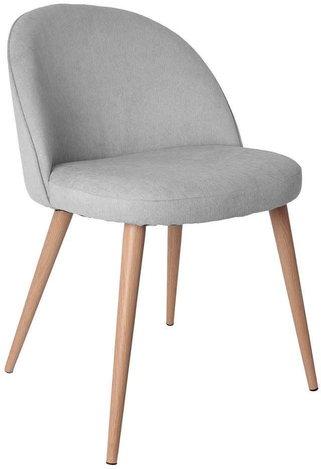 fauteuil gris style scandinave vintage assise en feutrine gris clair