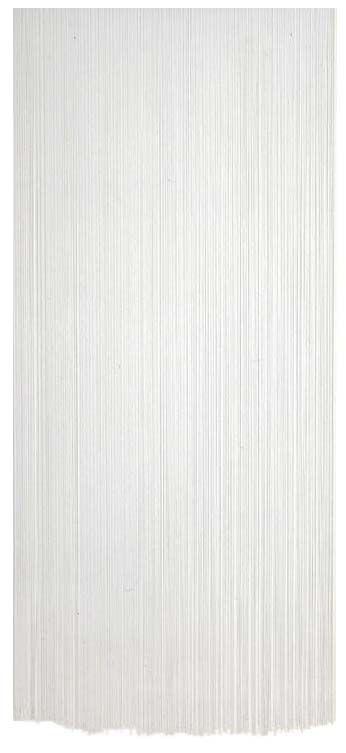 rideau fil de porte en polyester blanc