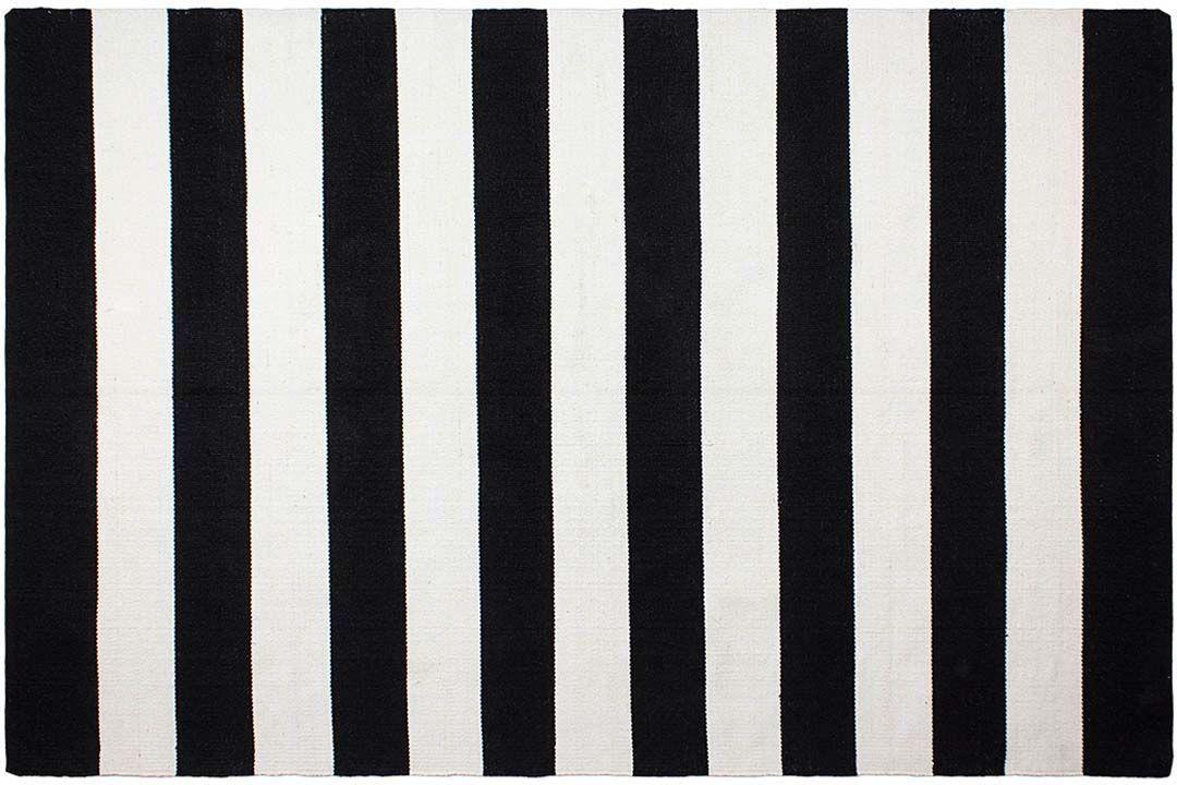 tapis en polyethylene recycle nantucket noir et blanc 90 x 60 cm