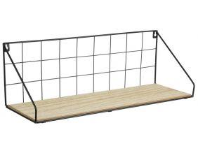 etagere filaire en bois et metal 45 cm