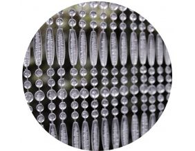 rideau de porte en perles transparentes frejus 90x210 cm