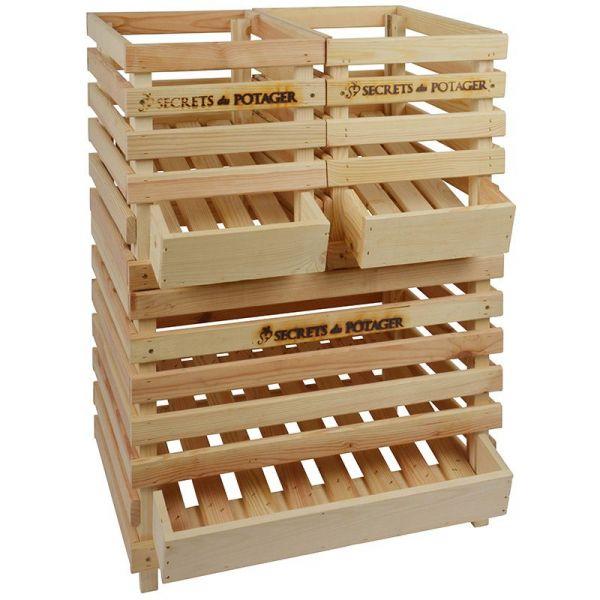 caisse a pommes de terre en bois