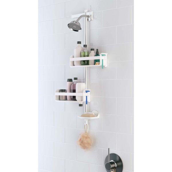 colonne support accessoires de salle de bain