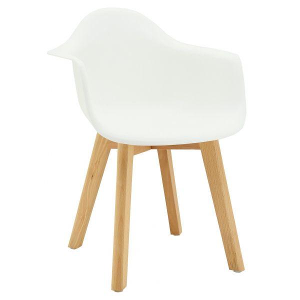 fauteuil enfant en polypropylene et bois blanc