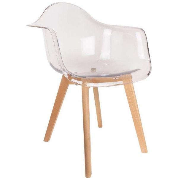 fauteuil scandinave en polypropylene transparent