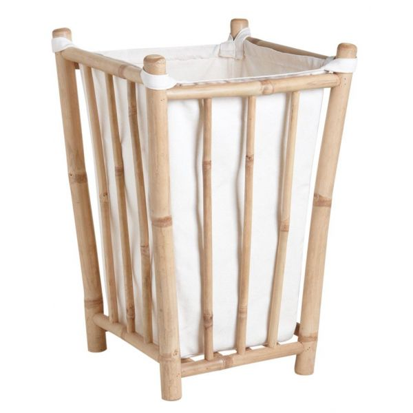 Panier A Linge En Bambou Et Coton